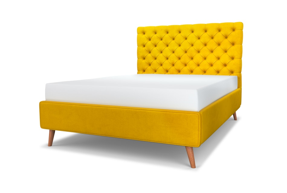 Chesterfield upholstered storage bed