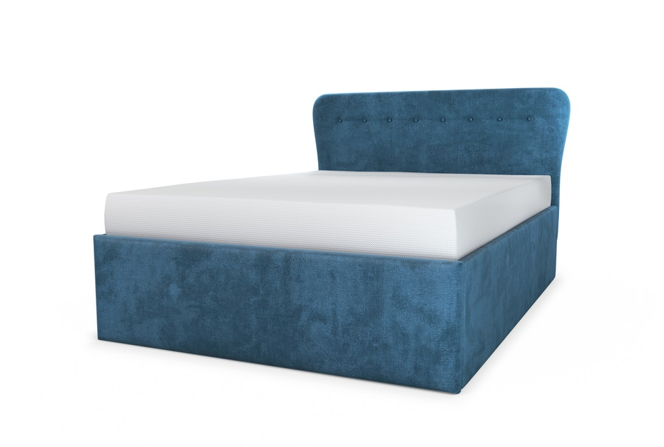 Cocktail upholstered storage bed