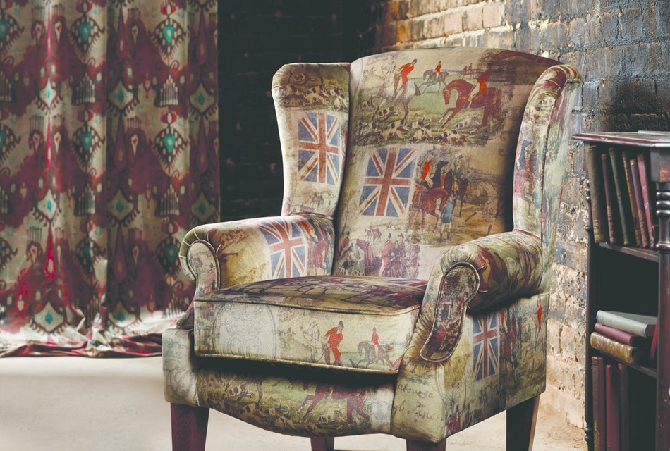 Queen anne wing chair 3